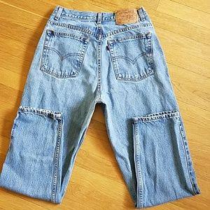 Levi's 550 vintage high waisted jeans